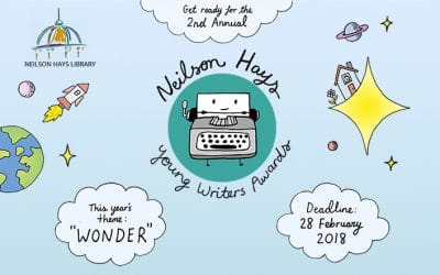 Neilson Hays Young Writers Award 2018 – Entries due 19th Feb (NOT the 26th)