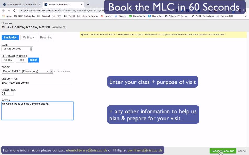MLC Booking 10